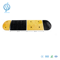 500mm Rubber Speed Ramp with Yellow Reflective Part