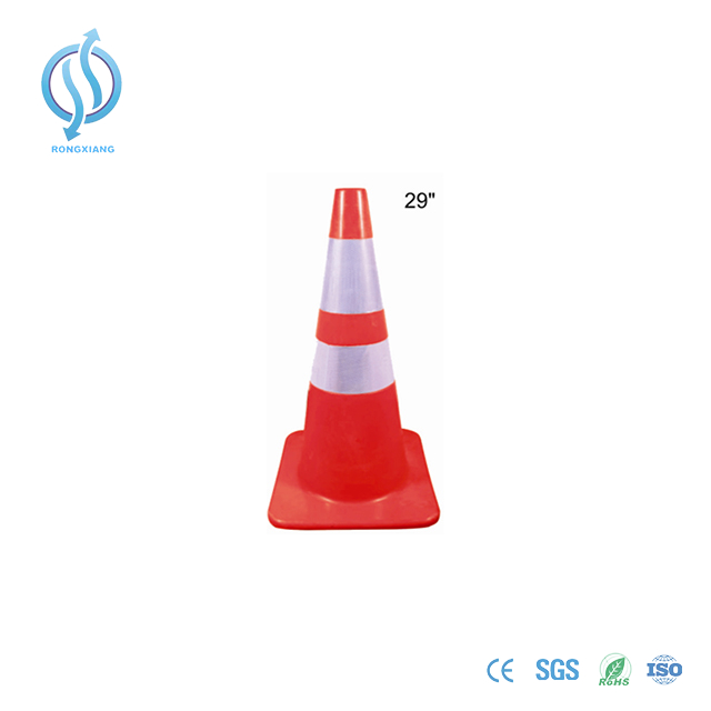 720mm Red Safety Cone with Two Reflective Tape