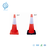 750mm 3.6kg Orange Traffic Cone with Black Base